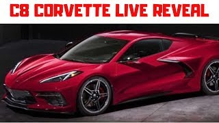 2020 C8 Chevrolet Corvette stingray reveal live