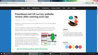 Review of UK survey website Panelbase