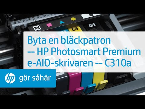 Byta en bläckpatron – HP Photosmart Premium e-All-in-One-skrivaren – C310a