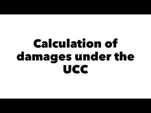 Calculation of damages under the UCC