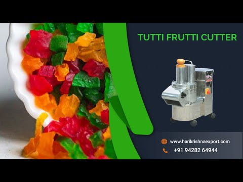 Papaya Cutting Machine,Tutti Fruity Making Machine