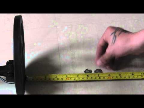 Teknetics digitek air test with hammered coin