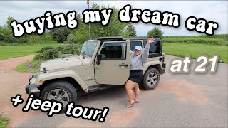 I BOUGHT MY DREAM CAR AT 21!! *Jeep Wrangler Tour*
