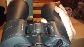 Barska binoculars work great after collimation.
