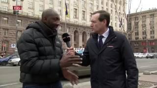 Володимира Кличка против Ентоні Джошуа фрагмент спарингас Києва