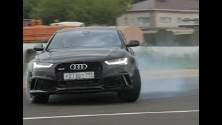 Audi RS6 неудержимая + заезд против новой Камри 3,5