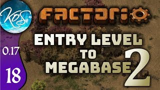 Factorio 0.17 Ep 18: THE BOTS ARE HERE! - Entry Level to Megabase 2 - Tutorial Let's Play, Gameplay