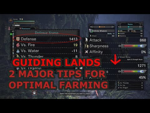 MHW Guiding Lands - 2 Major Tips for Optimal Farming (monster cycling and insane buffs) (Iceborne)