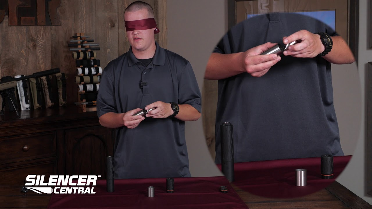 Blindfolded Take-down BANISH 30 multi-caliber suppressor