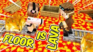 THE FLOOR IS LAVA SU TUTTA LA CITTA' DI MINECRAFT!!
