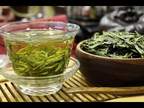 Té verde Longjing - tea time cata de té Fresh Chinese Tea