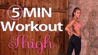 Slimmer Thighs Workout - HIIT - no equiment - toned legs in 5 Minutes by BodyShape