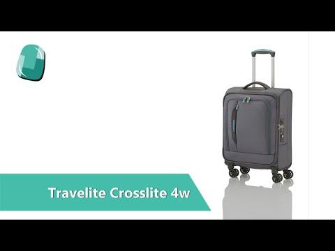 Textilní kufr Travelite CrossLITE 4w s přihrádkou na notebook | Bagalio