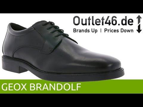 37613c7a8d51 GEOX Brandolf Schnürschuh Schwarz l Der perfekte Business-Schuh l 360°  Video l Outlet46