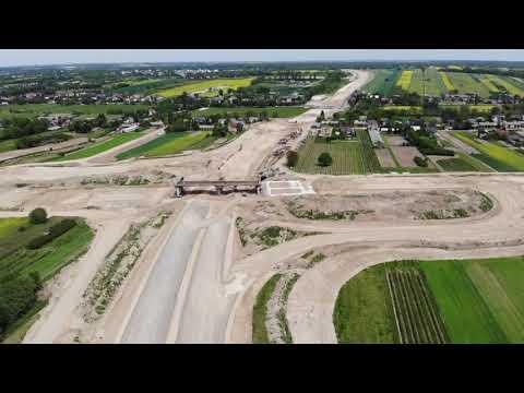 Planowana droga S19 odc. 3 obwodnica m. Kraśnik - widok lotniczy - maj 2020 r.