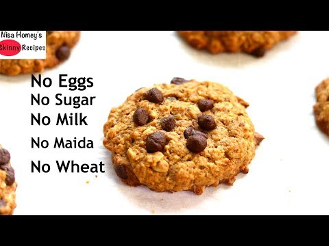 How to Make Gluten Free & Eggless Oatmeal Chocolate Chip Cookies – Healthy Oatmeal Cookie Recipe