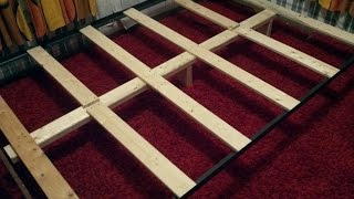 How To Support a Mattress Without a Box Spring - Build a DIY Bed Frame for $10