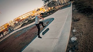 Skateboarding with a FPV Drone