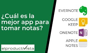 ¿Cuál Es La Mejor App De Notas?  ¿Evernote, OneNote, Google Keep O Apple Notes?