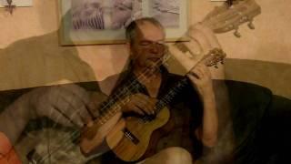 Sevillanas por ukulele (La mejor/A major - practice, TAB) Sevillana