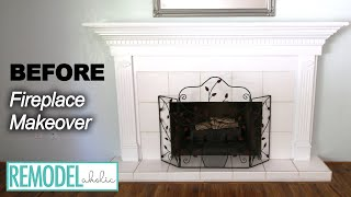 DIY Fireplace Makeover Part One | Updating The Woodwork | Remodelaholic
