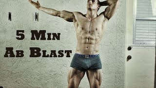 BEST 5 Minute Home Ab Routine (Workout) by Brendan Meyers