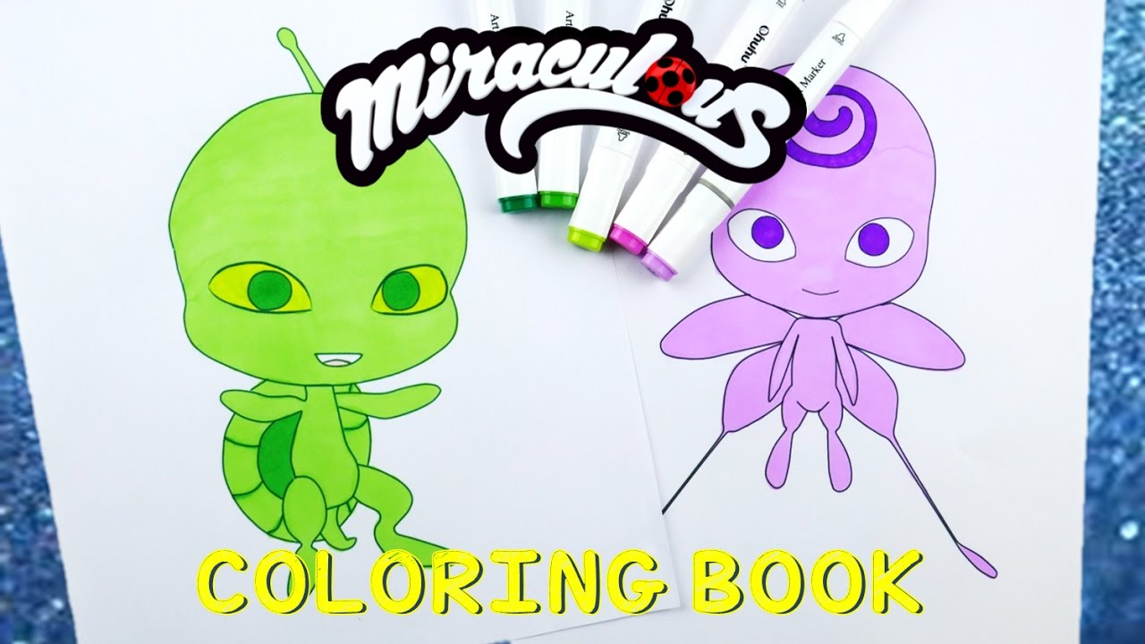 Miraculous Ladybug Coloring Book Pages Kwami Nooroo Wayzz | Evies Toy House