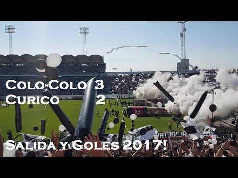 """""""Colo-Colo 3 / Curico 2 - Salida y goles desde cordillera!!"""" Barra: Garra Blanca • Club: Colo-Colo"""