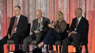 NRF Executive Committee Panel: Mindy Grossman, Chris Baldwin, Matt Shay, Greg Sandfort // CEO & Director HSNi, CEO of BJ's Wholesale club, President & CEO of NRF, CEO of Tractor Supply