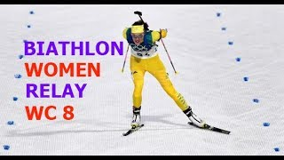 BIATHLON WOMEN RELAY 17.03.2018 World Cup 8 Holmenkollen (Norway)
