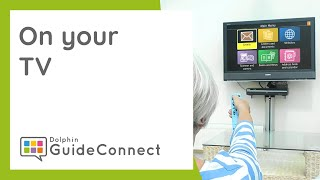 GuideConnect on Your TV, with a Remote Control