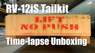 RV Aircraft Video - Time-lapse! Van's Aircraft RV-12iS Tailkit Unboxing
