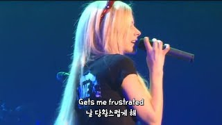 에이브릴 라빈(Avril Lavigne)의 Complicated 차분한 라이브 [한글자막]