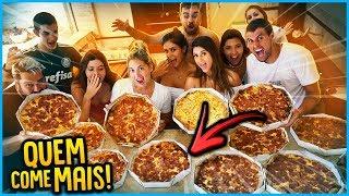 5 VS 5: ÚLTIMO QUE PARAR DE COMER PIZZA GANHA!! [ REZENDE EVIL ]