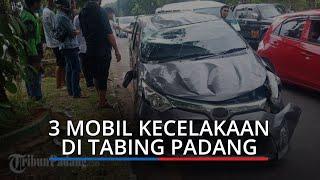Tiga Mobil Terlibat Kecelakaan di Tabing Padang