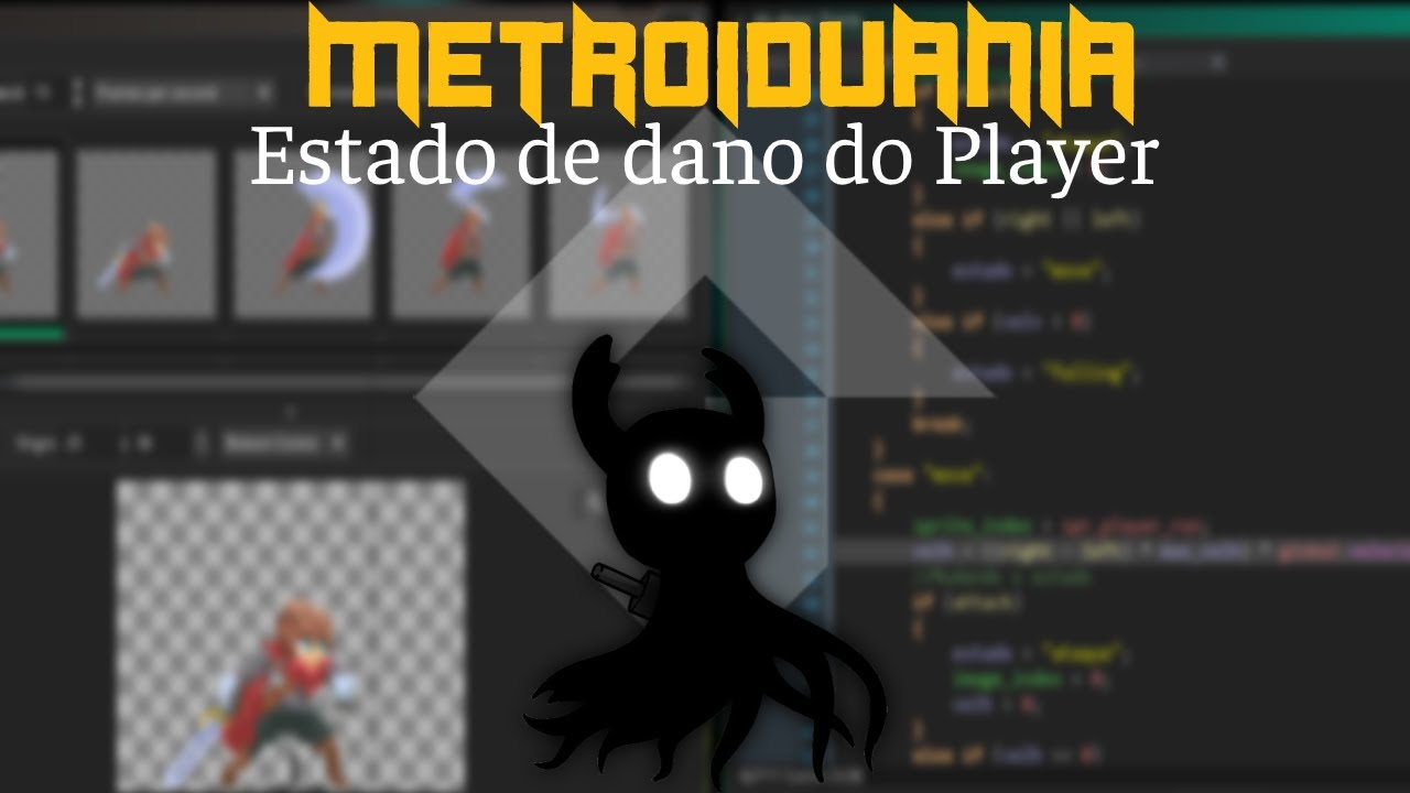 MetroidVania 18 - Estado de dano do player | Game Maker Studio 2