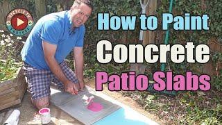 Can I Paint...? Concrete Patio Slabs