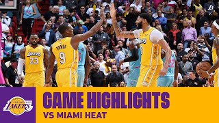 HIGHLIGHTS | Los Angeles Lakers Highlights vs  Miami Heat
