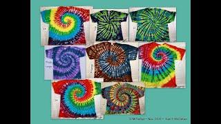 The Mystical Magical Tie Dye Spiral ~ 1 Twist ~ 8 Tees