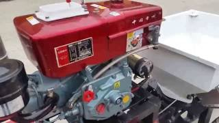 Diesel mortar spray machine with electric start