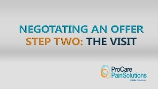 Four Steps To Negotiating An Offer - Step 2: The Visit