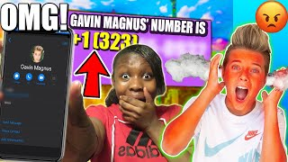 EXPOSING GAVIN MAGNUS' REAL PHONE NUMBER (he actually ANSWERED)