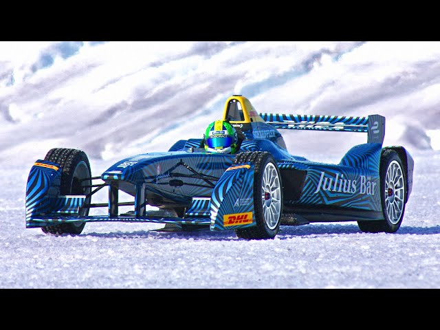 Formula E Car Visits Arctic Ice Cap Projectice