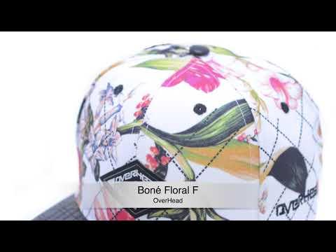 boné aba reta overhead floral f. Carregando zoom. 9a9d5fc9e68