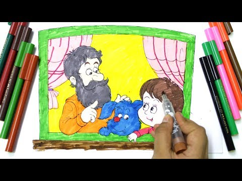 colouring happy fathers day, father and kids colouring, colouring pages for kids