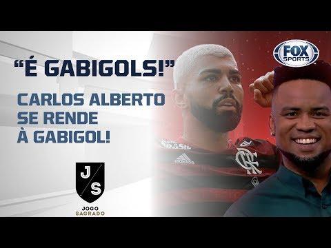 CARLOS ALBERTO SE RENDE À GABIGOL!