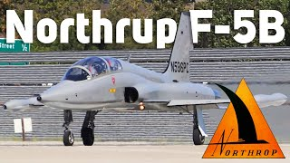HD RARE Northrop F-5B Freedom Fighter N586PC LOUD Takeoff from San Jose International Airport