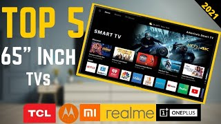 """Top 5 Best 65"""" Inch Smart 4K LED TV's in India 2020 