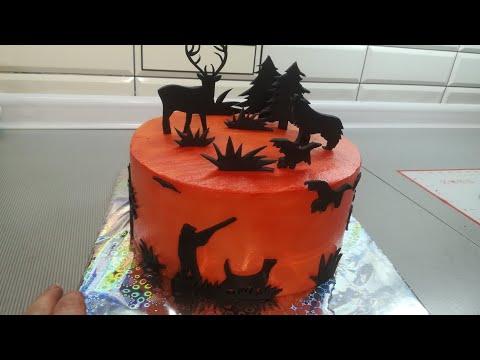 Идея оформления торта охотнику