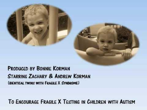 Screenshot for video: Fragile X syndrome and autism